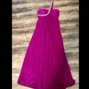 Xscape Deep Fuschia Pink Formal Gown Prom Dress